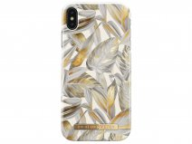 iDeal of Sweden Case Platinum Leaves - iPhone Xs Max hoesje