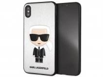 Karl Lagerfeld Iconic Case Zilver - iPhone Xs Max hoesje