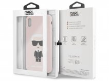 Karl Lagerfeld Iconic Case Roze - iPhone Xs Max hoesje