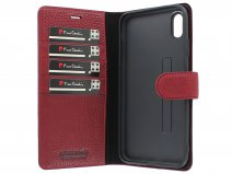 Pierre Cardin Classic Rood Leer - iPhone Xs Max hoesje