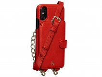 Sena Kyla Crossbody Wallet Rood - iPhone Xs Max Hoesje