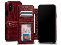 Sena Wallet Book Classic Case Croco - iPhone Xs Max hoesje