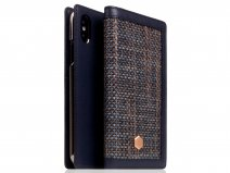 SLG Design D5 CSL Navy Leer - iPhone Xs Max hoesje