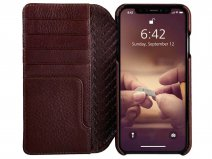 Vaja Wallet Agenda Case Pinecone - iPhone Xs Max Hoesje Leer