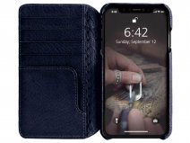 Vaja Wallet Agenda Case Navy - iPhone Xs Max Hoesje Leer