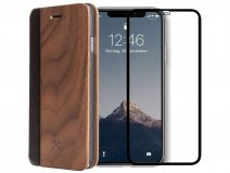 Woodcessories EcoFlip Walnut - iPhone Xs Max Hoesje met Protector