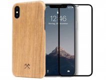 Woodcessories EcoSlim Cherry - iPhone Xs Max Hoesje met Protector