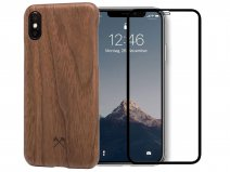 Woodcessories EcoSlim Walnut - iPhone Xs Max Hoesje met Protector