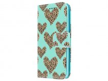 Leopard Hearts Book Case - iPod touch 5G/6G hoesje