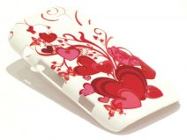 Crystals Red Hearts Case voor Blackberry Torch 9860