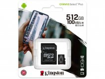 Kingston 512GB Micro-SD Geheugenkaart - Class 10 UHS-I