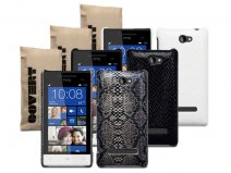 Covert Snake Skin Back Case Hoesje voor HTC 8S