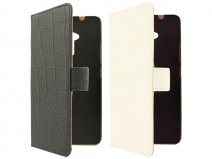 Croco Book Case Hoesje voor HTC One Max (T6)