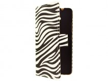 Zebra Book Case Hoesje voor HTC One Max (T6)