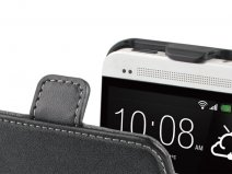 Muvit Slim Elegant Leather Case voor HTC One (M7)