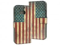 USA Vintage Wallet Case voor HTC One M8