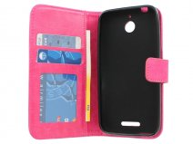 Wallet Book Case Hoesje voor HTC Desire 510