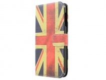 Vintage GB Flag Book Case Hoesje voor HTC Desire 510