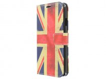 Vintage GB Flag Book Case Hoesje voor HTC Desire 516