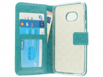 Wallet Bookcase Turquoise - HTC U Play hoesje