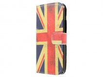 Vintage GB Flag Book Case Hoesje voor HTC One M9