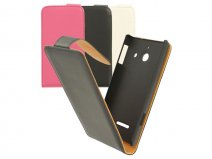 Classic Leather Flip Case - Huawei Ascend W1 hoesje