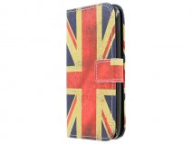 Vintage GB Flag Book Case Hoesje voor Huawei Ascend Y550