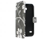 White Flowers Book Case Hoesje voor Huawei Ascend Y550