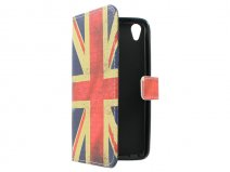 Vintage GB Flag Book Case Hoesje voor Huawei Ascend G620s
