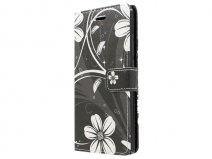 White Flowers Book Case Hoesje voor Huawei Ascend P8