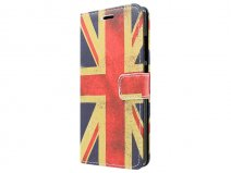 Vintage GB Flag Book Case Hoesje voor Huawei Ascend P8 Lite