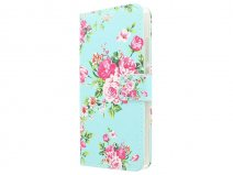 Flower Book Case - Huawei Ascend P8 Lite hoesje