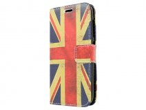 Vintage GB Flag Book Case Hoesje voor Huawei Ascend Y540