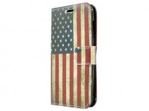 Vintage USA Flag Book Case Hoesje voor Huawei Ascend Y540
