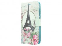 Retro Paris Book Case Hoesje voor Huawei Ascend Y540