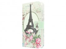 Retro Paris Book Case Hoesje voor Huawei Ascend Y625