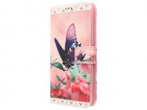 Huawei Ascend Y635 Hoesje - Butterfly Book Case