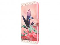 Butterfly Book Case - Huawei G Play Mini hoesje