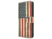 Vintage USA Flag Book Case - Huawei G Play Mini hoesje