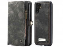 CaseMe 2in1 Wallet Ritsvak Case Zwart - Huawei P30 Pro (New Edition) Hoesje