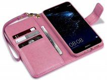 CaseBoutique Bookcase Pink Rose - Huawei P10 Lite Hoesje