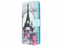 Retro Paris Bookcase Wallet - Huawei P20 hoesje