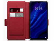 CaseBoutique Leather Case Rood Leer - Huawei P30 hoesje