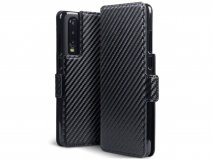 CaseBoutique Slim Bookcase Carbon - Huawei P30 hoesje