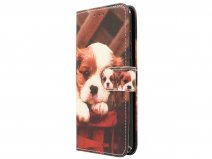 Puppy Dog Bookcase - Huawei P8 Lite 2017 hoesje