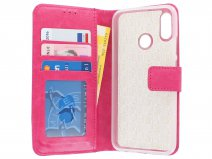 Book Case Wallet Roze - Huawei P Smart 2019 hoesje