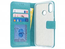 Book Case Wallet Turquoise - Huawei P Smart 2019 hoesje