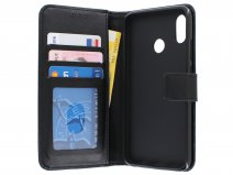 Book Case Wallet Zwart - Huawei P Smart 2019 hoesje