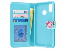 Bloemenprint Book Case - Huawei P Smart 2019 hoesje