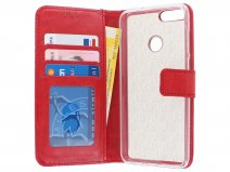 Bookcase Wallet Rood - Huawei P Smart hoesje